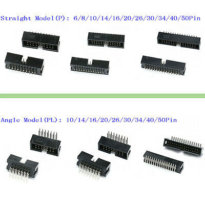 IDC Straight & Angle Pin Boxed Headers Connector 2.54mm DC3 ISP JTAG Socket P&PL