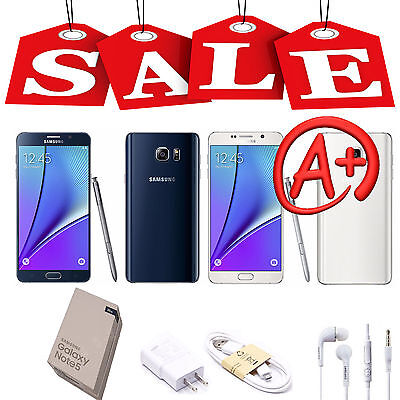 Unlocked Samsung Galaxy Note 5 32GB SM-N920V AT&T 4G LTE GSM World Phone - WHITE