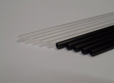 5x New Genuine Tamiya 30cm (Min) Aerial/Antenna Tube/Straw Clear or Black