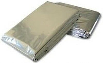 Redwood Leisure Emergency Survival Thermal First Aid Blankets Silver Foil x2