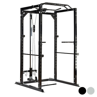 Mirafit 350kg Heavy Duty Olympic Power Cage/Squat Rack & Cable Pull Up/Down