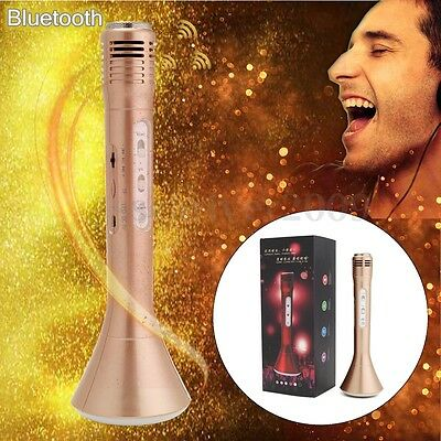 Wireless Bluetooth KTV Karaoke Stereo Microphone Speaker Player with LED Lamp