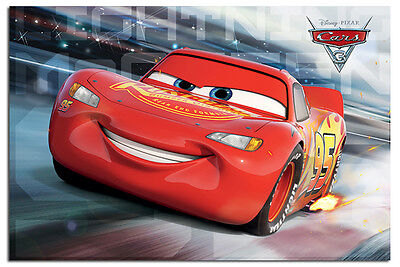 Cars 3 Lightning McQueen Race Poster New - Maxi Size 36 x 24 Inch