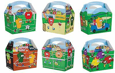 Children's Kids Birthday Party Box Carry Meal Boxes Sport Fruits