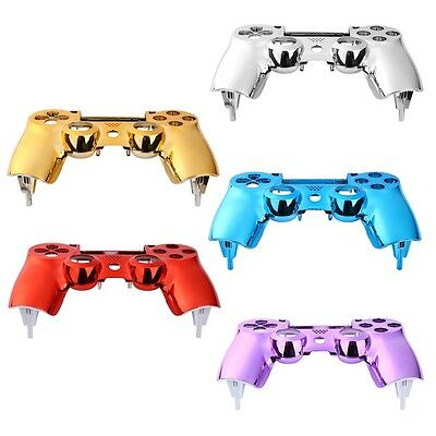 New Plating Front Housing Shell Case Cover For PS4 DualShock 4 Controller HT