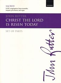 RUTTER CHRIST THE LORD IS RISEN TODAY Brass SET P