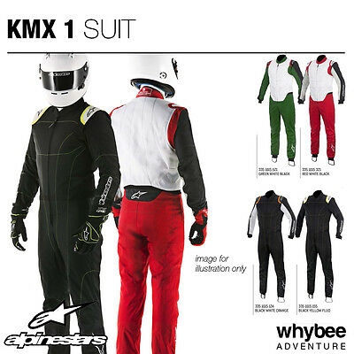 Sale! 3351015 Alpinestars KMX-1 KART SUIT CIK-FIA Level 2 Approved for Karting