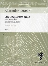 BORODIN STRING QUARTET No 2 D major (parts)