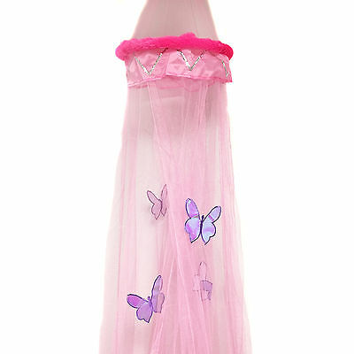 Girls Princess Butterfly Bed Net Canopy – for Children's Bedroom – 30 x 230 cm