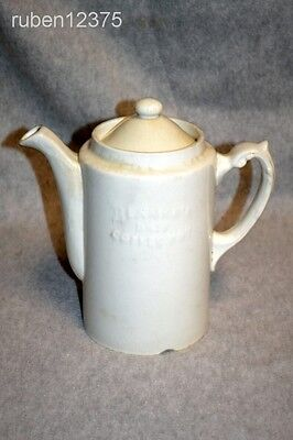 Antique 1909 Blanke's Drip Coffee Pot Ironstone Stoneware RARE Advertising Promo
