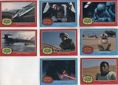 Star Wars Chrome Perspectives II Complete Force Awakens Glossy Promo Card Set