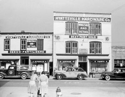 "1940 Hyattsville Hardware, Hyattsville, Maryland Vintage Old Photo 8.5"" x 11"""