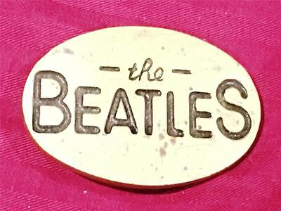 VINTAGE 1970s BEATLES ROCK BAND SOLID BRASS BELT BUCKLE RARE!  FREE SHIPPING!