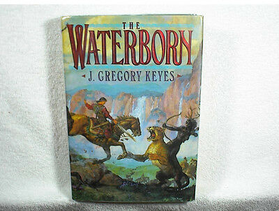GREGORY KEYES (SIGNED 3X) THE WATERBORN 1st Edition Hardcover