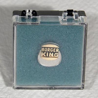 SOLID 10K Yellow & White Gold BURGER KING Employee SERVICE PIN Dieges&Clust 2.4g