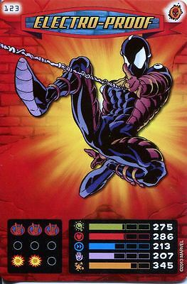 Spiderman Heroes And Villains Card #123 Electro Proof