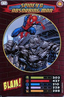 Spiderman Heroes And Villains Card #271 Spidey & Absorbing Man