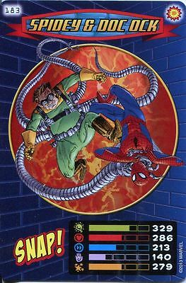 Spiderman Heroes And Villains Card #183 Spidey & Doc Ock