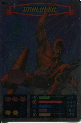 Spiderman Heroes And Villains Card #061 Daredevil Foil