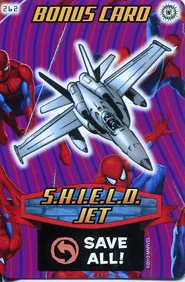 Spiderman Heroes And Villains Card #262 S.H.I.E.L.D. Jet