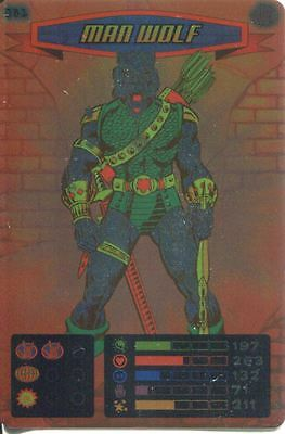 Spiderman Heroes And Villains Card #081 Man Wolf Foil