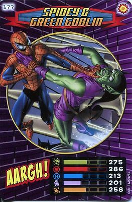 Spiderman Heroes And Villains Card #177 Spidey & Green Goblin