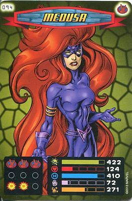 Spiderman Heroes And Villains Card #094 Medusa