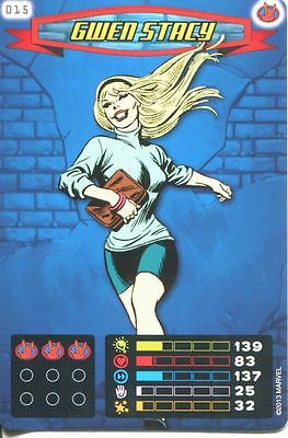 Spiderman Heroes And Villains Card #015 Gwen Stacy