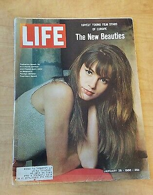 Vintage Life Magazine January 28 1966 New Beauties Young Film Stars Europe