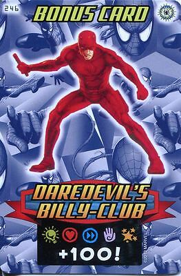 Spiderman Heroes And Villains Card #246 Dardevils Billy-Club