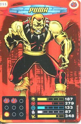 Spiderman Heroes And Villains Card #055 Puma