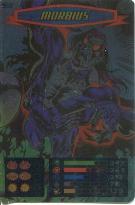 Spiderman Heroes And Villains Card #053 Morbius Foil