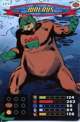 Spiderman Heroes And Villains Card #124 Walrus