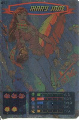 Spiderman Heroes And Villains Card #097 Mary Jane Foil