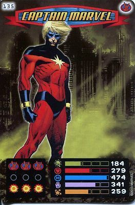 Spiderman Heroes And Villains Card #135 Captain Marvel
