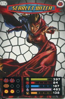 Spiderman Heroes And Villains Card #076 Scarlet Witch