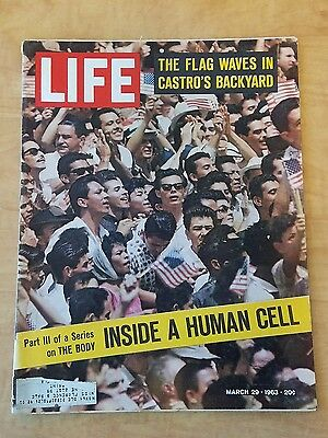 Vintage Life Magazine March 29 1963 Castro Inside A Human Cell