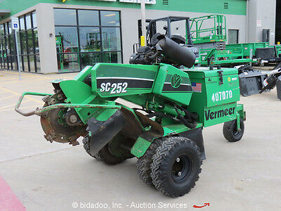 2012 Vermeer SC252 Stump Grinder 16'' Cutter Wheel Kohler Gas bidadoo