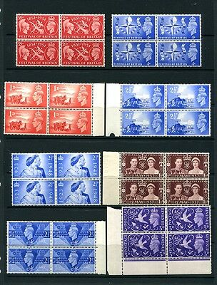 George V1 - Commeratives (1) in blocks of four - All Unmounted Mint