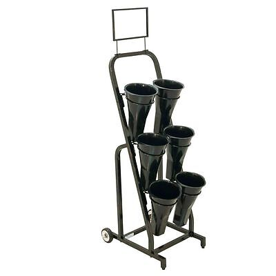 "Mobile Merchandisers FC1540 48"" 6 Vase Floral Display Rack"