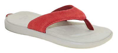 7d87a652fbaa2e Soft Science Women s The Skiff 2.0 Canvas Flip Flop Red Style UC0043