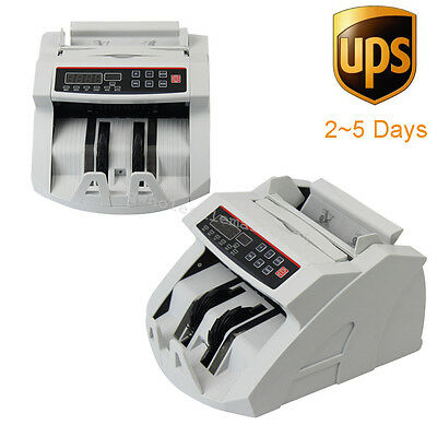 CE! Auto Money Bill Currency Counter Machine Counterfeit Detector UV MG 110V