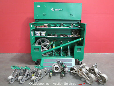 Greenlee 640 Cable Wire Puller Tugger Pulling Tug Gang System Sheaves Extension