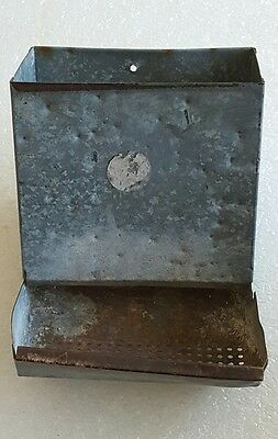 Vintage Galvanized Steel Chicken Peep Feeders Repurpose Wall Planter Bird Feeder
