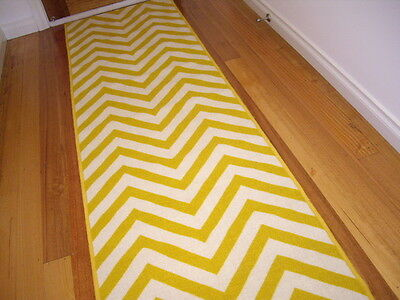 Hallway Runner Hall Runner Rug 3 Metres Long Modern Yellow FREE DELIVERY