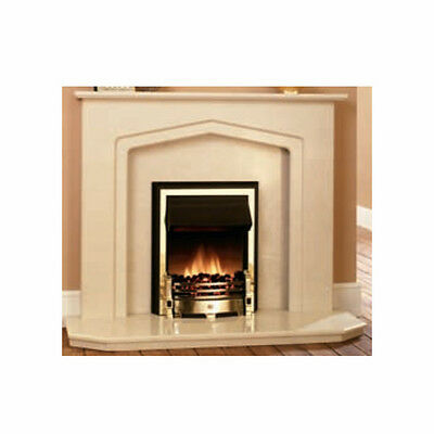 Elegant Arched Marble Fireplace Surround - Roman Stone - 1102x1372mm