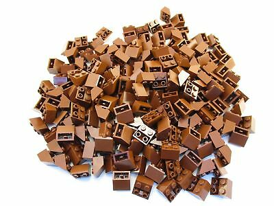 LEGO Reddish Brown Slope Inverted 45 2x2 Lot of 100 Parts Pieces 3660
