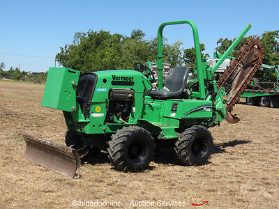2012 Vermeer RT450 Ride-On Trencher 4WD Hydraulic Dozer Backfill Blade bidadoo