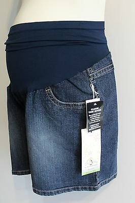 Oh Baby Maternity Shorts Size L Blue Jean Secret Fit Belly Panel NEW