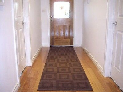 Hallway Runner Hall Runner Rug 3 Metres Long Modern Designer Brown FREE DELIVERY